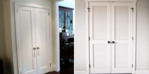 Жалюзийные двери для гардеробных