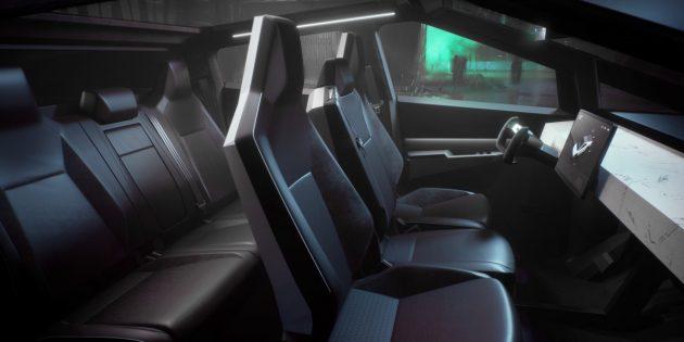 салон Tesla Cybertruck