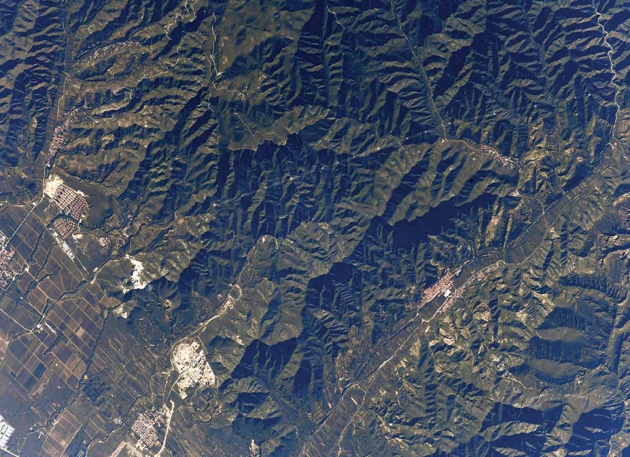 Великая Китайская стена из космоса