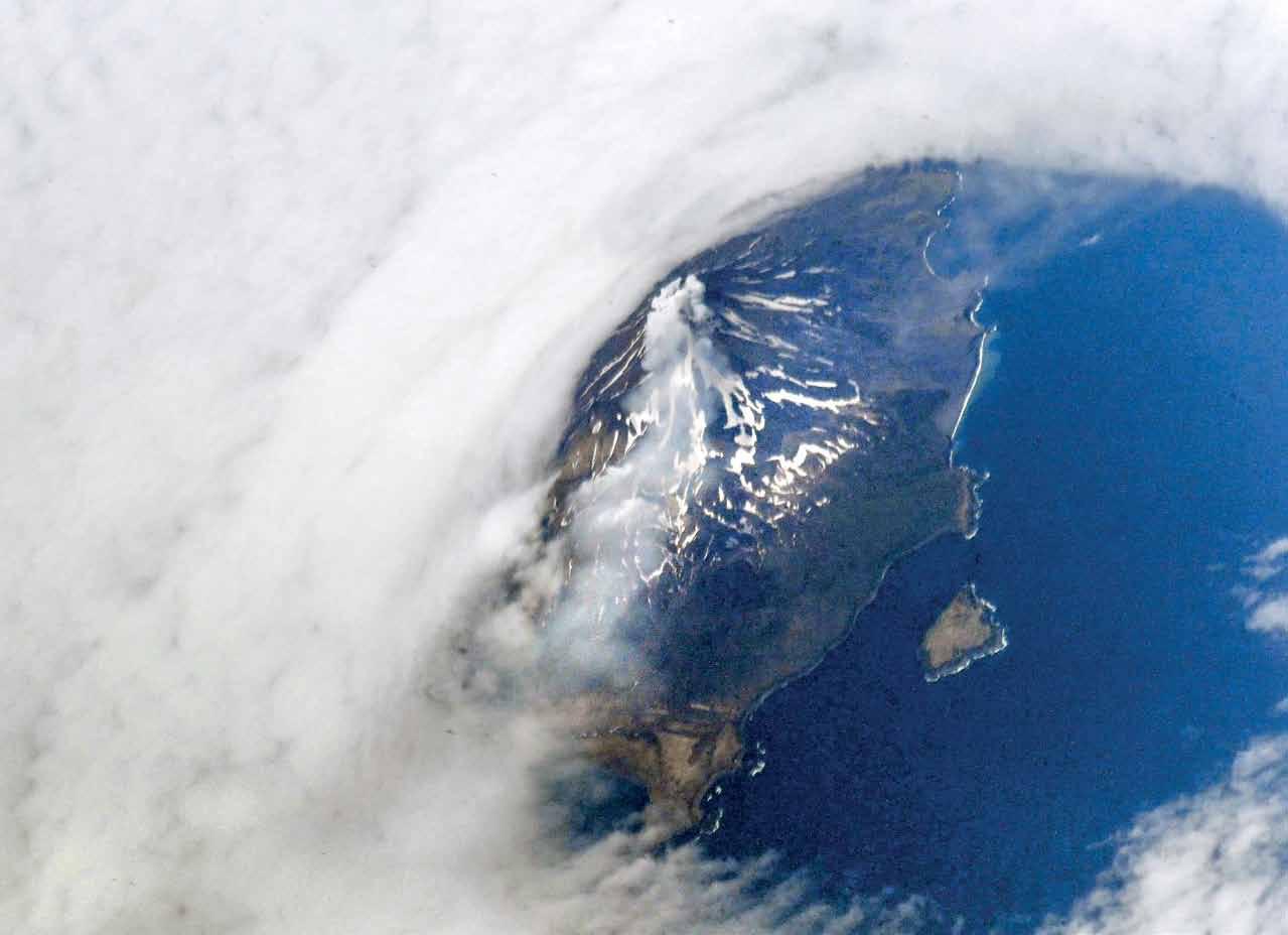 Фото Земли из космоса: Курилы