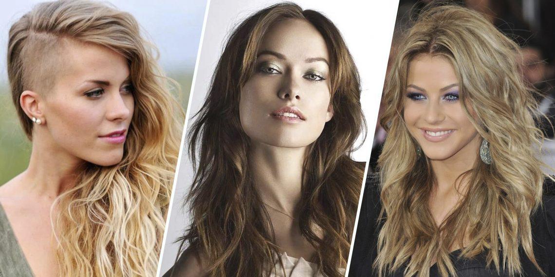 Женские стрижки для длинных волос для