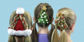 8 по-настоящему новогодних причёсок для девочек