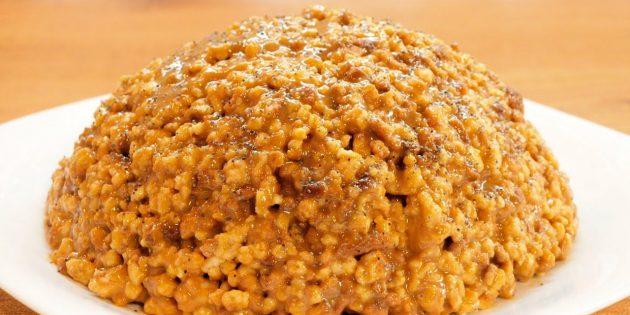 Рецепты: Торт «Муравейник» с кремом из сгущёнки и масла