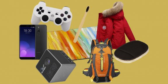 Находки AliExpress: куртки для собак, щётка для клавиатуры, кружка