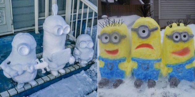 снежная фигура миньона