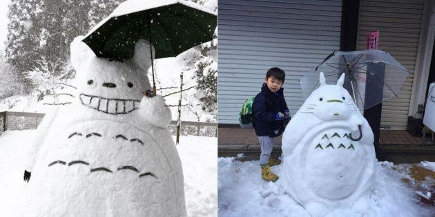 Снежные фигуры Тоторо
