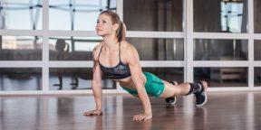 5 кругов ада: домашняя тренировка для железного пресса и сильных плеч