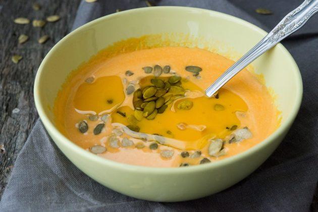 Тыквенный крем-суп с имбирём