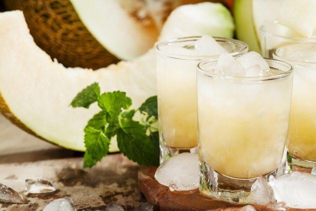 Дынный лимонад с лаймом