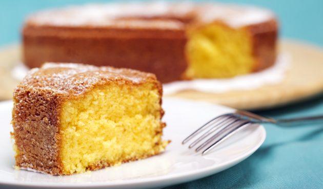 Воздушный ванильный пирог