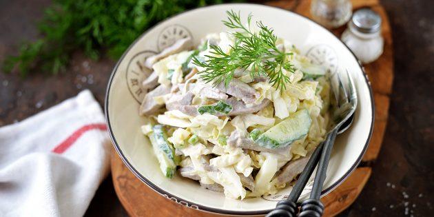 Салат с шампиньонами и говядиной: простой рецепт