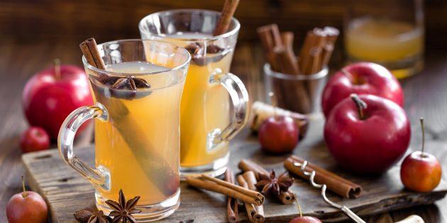 Безалкогольный глинтвейн на яблочном соке с апельсином: лучший рецепт