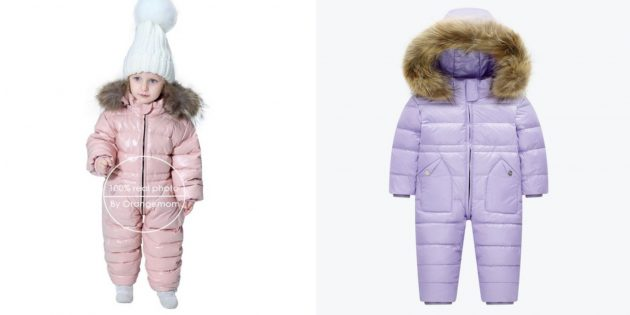 Тёплый комбинезон для малышей