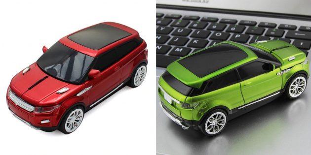 Необычные подарки на Новый год: мышка в виде Range Rover