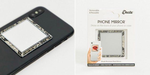 Необычные подарки на Новый год: зеркало для смартфона