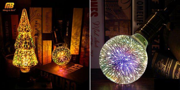 Необычные подарки на Новый год: новогодние лампочки