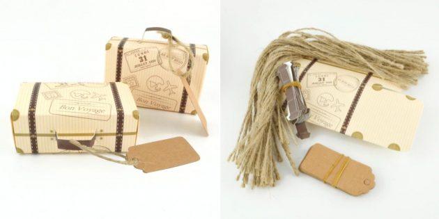 Упаковка для подарков: мини-чемодан