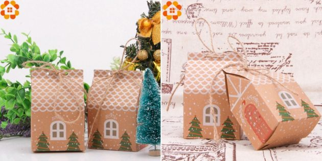 Упаковка для подарков: пакет-домик