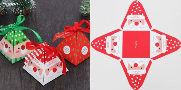 Упаковка для подарков: треугольные небольшие коробки