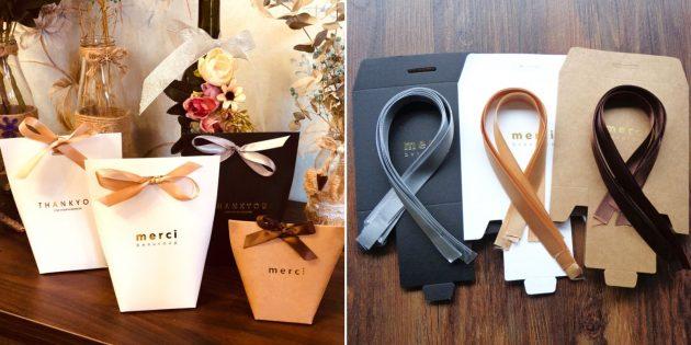 Упаковка для подарков: пакетик «Спасибо»