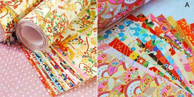 Упаковочная бумага в японском стиле