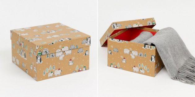 Упаковка для подарков: большая подарочная коробка