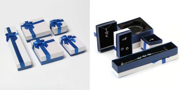 Упаковка для подарков: коробки для ювелирных украшений