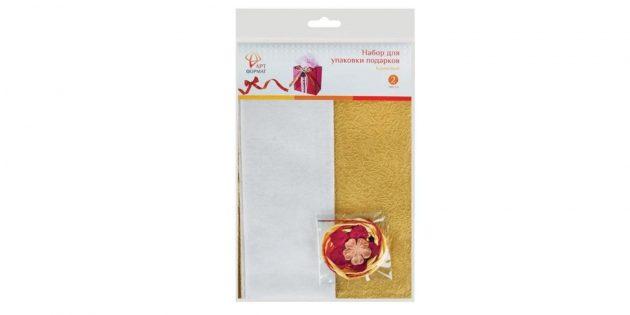Набор для упаковки подарков «Кремовый»