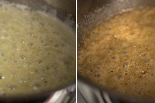 Как приготовить французские блинчики: дождитесь, пока карамель приобретёт приятный золотисто-коричневый оттенок