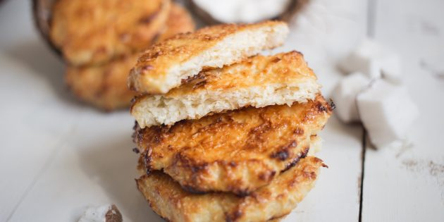 Мягкое кокосовое печенье с творогом