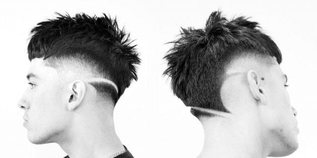 Модные мужские стрижки для любителей экстрима: выбритые узоры
