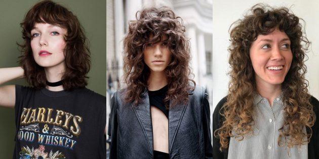 Модные стрижки на длинные волосы: шэгги на кудрявых волосах