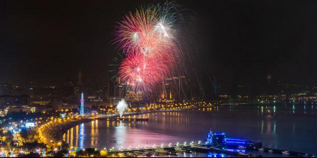 Новый год в Азербайджане: вечеринка в Баку