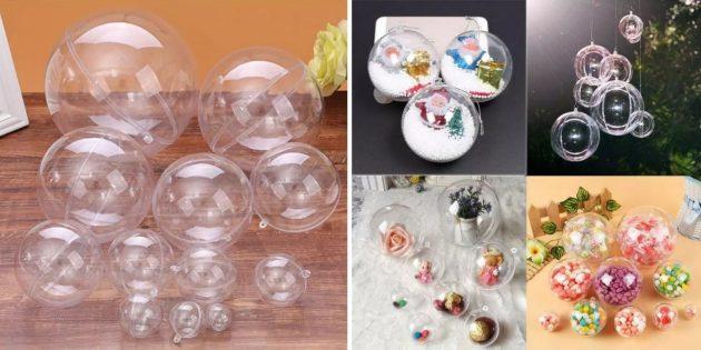 Полые прозрачные шары
