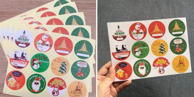 Набор стикеров для оформления подарков