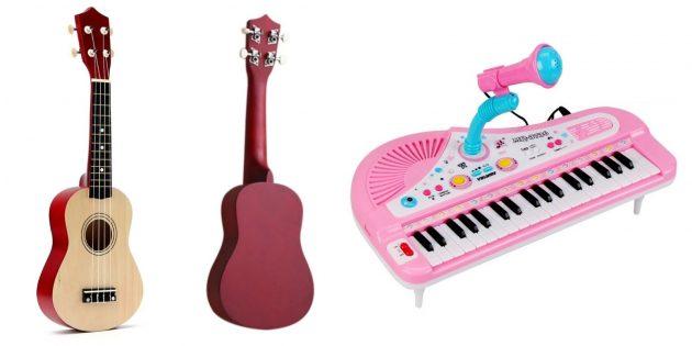 Подарки ребёнку на Новый год: детские музыкальные инструменты