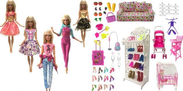 Подарки ребёнку на Новый год: Аксессуары для Барби