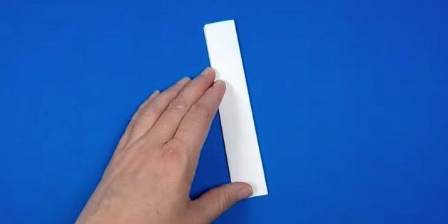 как сделать снеговика: сделайте из бумаги полоску