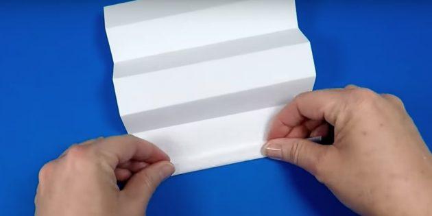 снеговик своими руками: начните формировать гармошку