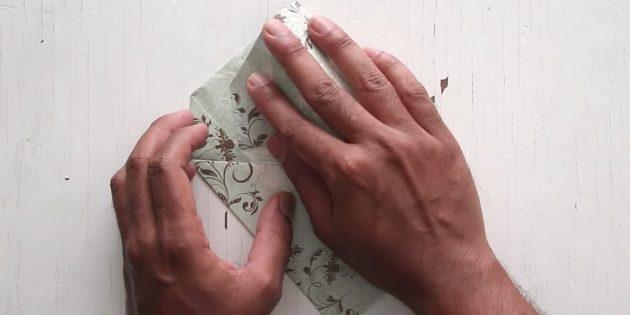 как сделать конверт: зафиксируйте клапан