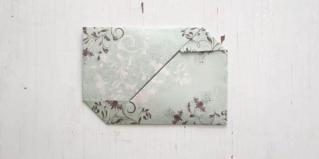 Как сделать раскладывающийся конверт с застёжками своими руками