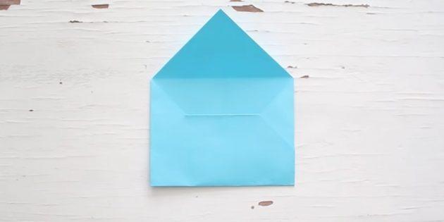 Как сделать классический конверт своими руками