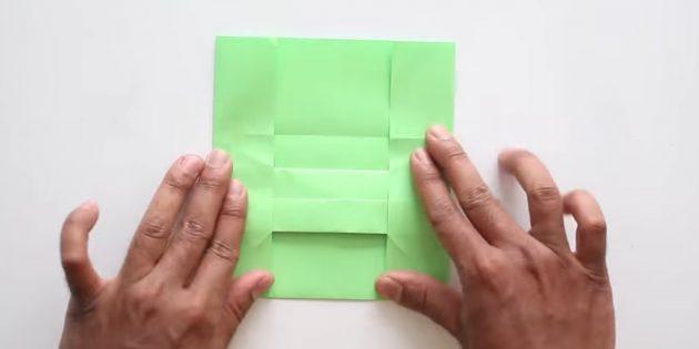 конверт своими руками без клея: загните боковые стороны