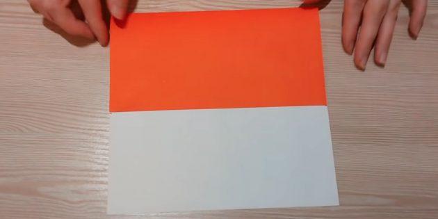 Загните край бумаги