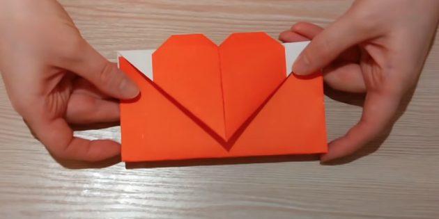 Как сделать конверт с фигурками в технике оригами