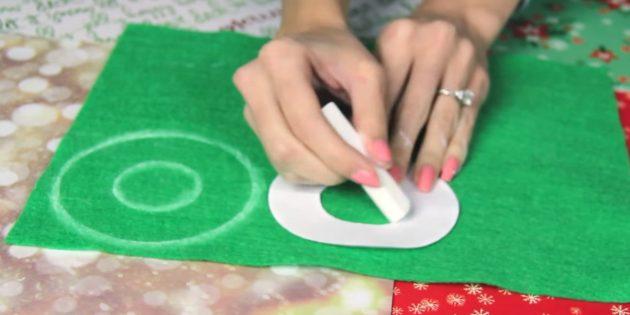 Ёлочные игрушки своими руками: сделайте шаблон и обведите