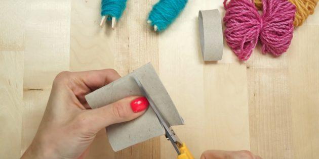 Ёлочные игрушки своими руками: разрежьте втулку