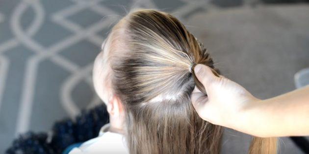причёски для девочек на новый год: сделайте хвост
