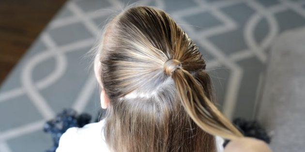причёски для девочек на новый год: спрячьте резинку