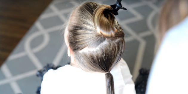 причёски для девочек на новый год: сделайте второй хвост
